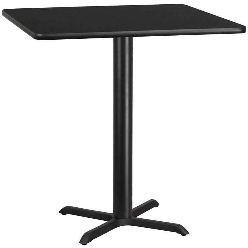 Flash Furniture 42 Square Restaurant Dining Table in Black