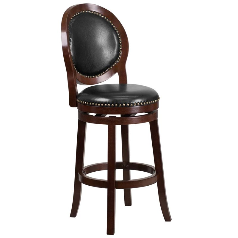 ext313352 flash furniture 30 leather bar stool in black and
