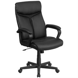 Flash Furniture High Back Leather Office Chair in Black