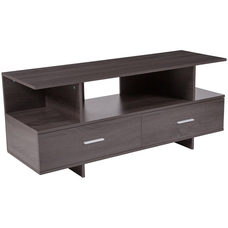 Flash Furniture 47 TV Stand in Driftwood
