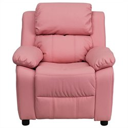 Flash Furniture Padded Kids Recliner in Pink