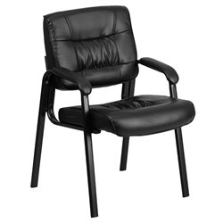 Flash Furniture Reception Guest Chair in Black
