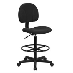 Flash Furniture Patterned Ergonomic Drafting Chair in Black