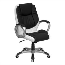 Flash Furniture Swivel Office Chair Black and White