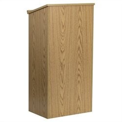 Flash Furniture Stand-Up Lectern in Oak