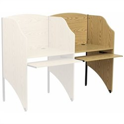 Flash Furniture Add-on Study Carrel in Oak