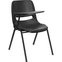 Flash Furniture Ergonomic Shell Chair in Black