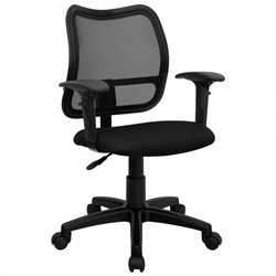 Flash Furniture Mid Back Mesh Task Office Chair in Black