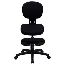 Flash Furniture Mobile Ergonomic Kneeling Office Chair in Black