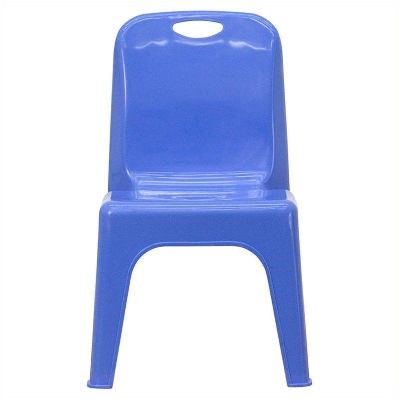 Flash furniture plastic stackable school chair in blue 454875 Plastic for furniture