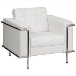 Flash Furniture Hercules Lesley Series Contemporary Chair in White