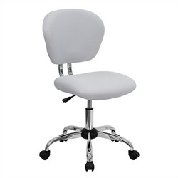 Flash Furniture Mid-Back Mesh Task Office Chair in White