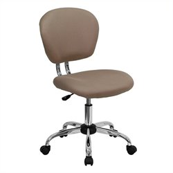 Flash Furniture Mid-Back Mesh Task Office Chair in Coffee Brown