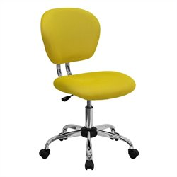 Flash Furniture Mid-Back Mesh Task Office Chair in Yellow