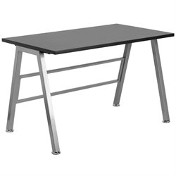 Flash Furniture High Profile Desk in Black
