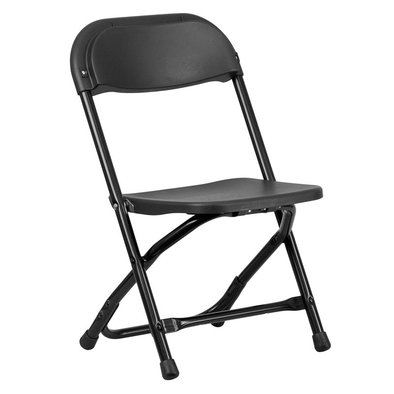 Flash Furniture Kids Plastic Black Folding Chair