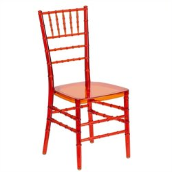 Flash Furniture Elegance Stacking Chiavari Dining Chair in Crystal Crimson