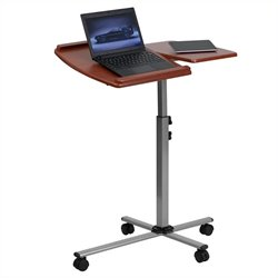 Flash Furniture Adjustable Mobile Laptop Computer Table in Cherry