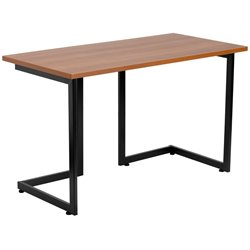 Flash Furniture Computer Desk with Black Frame in Cherry