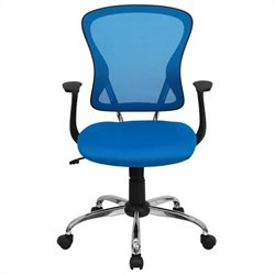 Flash Furniture Mid Back Mesh Office Chair in Blue
