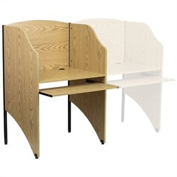 Flash Furniture Starter Study Carrel in Oak