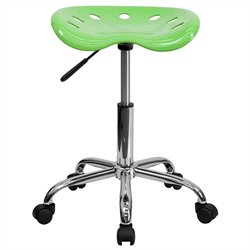 Flash Furniture Vibrant Chrome Adjustable Bar Stool in Apple Green