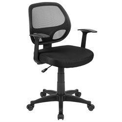 Flash Furniture Mid-Back Mesh Computer Office Chair in Black