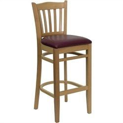 Flash Furniture Hercules Series Bar Stool with Burgundy Seat