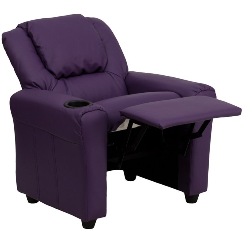 Flash Furniture Kids Recliner in Purple 462162