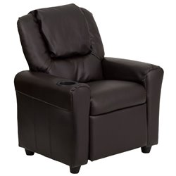 Flash Furniture Kids Recliner in Brown