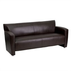Flash Furniture Hercules Majesty Leather Sofa in Brown