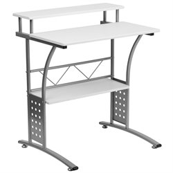 Flash Furniture Clifton Computer Desk in White