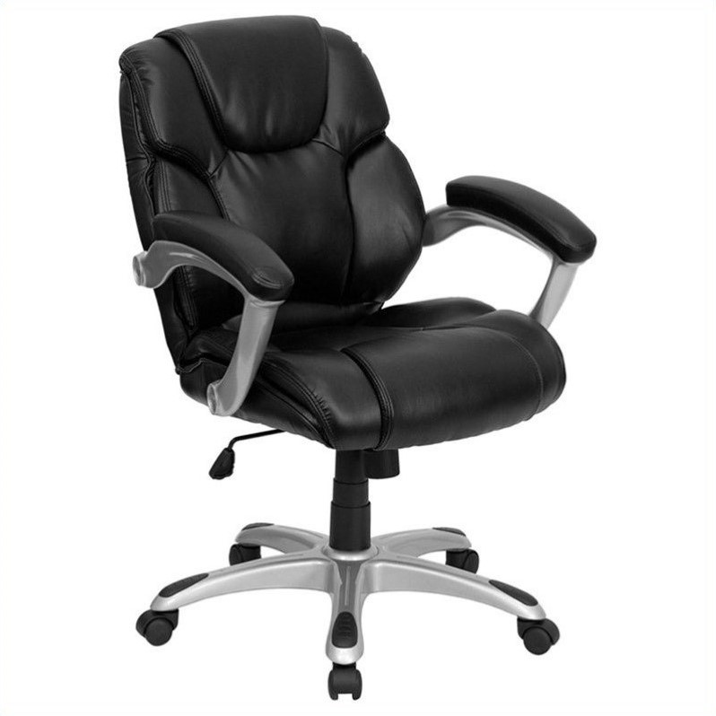 Flash Furniture Mid Back Black Leather Office Task Office Chair