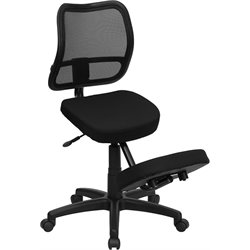 Flash Furniture Mobile Ergonomic Kneeling Task Office Chair in Black