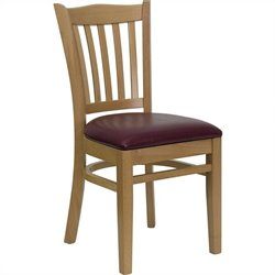 Flash Furniture Hercules Series Vertical Slat Back Dining Chair