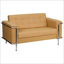 Flash Furniture Hercules Lesley Series Love Seat in Light Brown