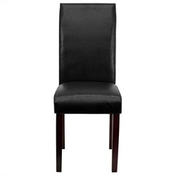 Flash Furniture Upholstered Parsons Dining Chair in Black