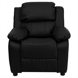 Flash Furniture Contemporary Kids Recliner in Black