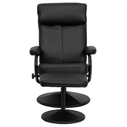 Flash Furniture Palimino Recliner and Ottoman in Black with Base