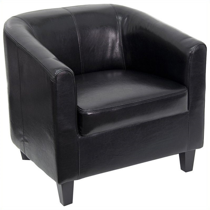 Flash Furniture Office Guest Chair in Black