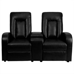 Flash Furniture 2 Seat Home Theater Recliner in Black