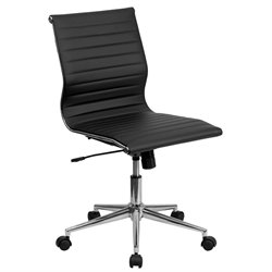 Flash Furniture Armless Upholstered Office Chair in Black