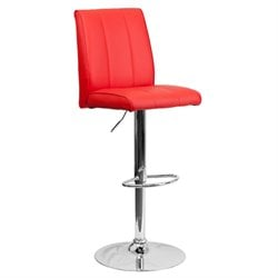 Flash Furniture Adjustable Bar Stool in Red