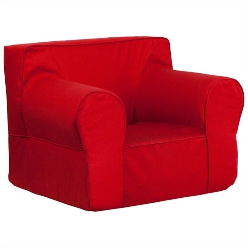 Flash furniture oversized kids chair in red forevercrib for Oversized kids chair
