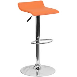 Flash Furniture Backless Bar Stool in Orange