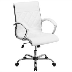 Flash Furniture Mid Back Designer Office Chair in White