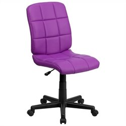 Flash Furniture Mid Back Quilted Task Office Chair in Purple