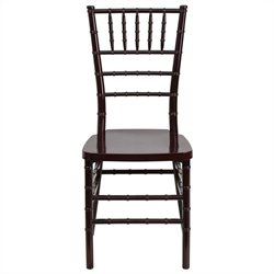 Flash Furniture Elegance Resin Stacking Chiavari Dining Chair in Mahogany