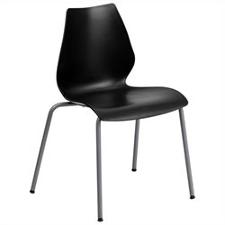 Flash Furniture Hercules Series Stack Stacking Chair in Black