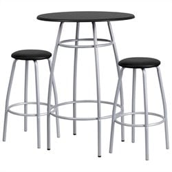 Flash Furniture Contemporary Bar Height Table and Stool Set